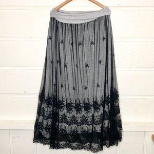 Sundance Skirts - Sundance Catalog Black Lace Maxi Skirt